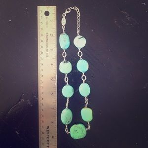 Jewelry - Genuine turquoise stone sterling silver necklace